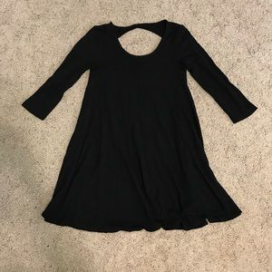 American Eagle Outfitters Black T-Shirt Dress